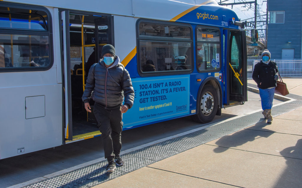 Wear A Mask at the Bus Station